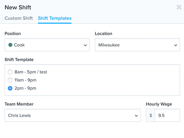 employee scheduling software that helps you create schedules faster