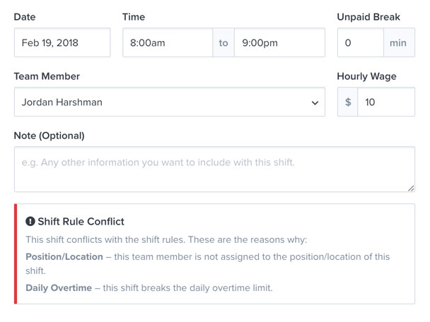 employee scheduling software that prevents scheduling errors