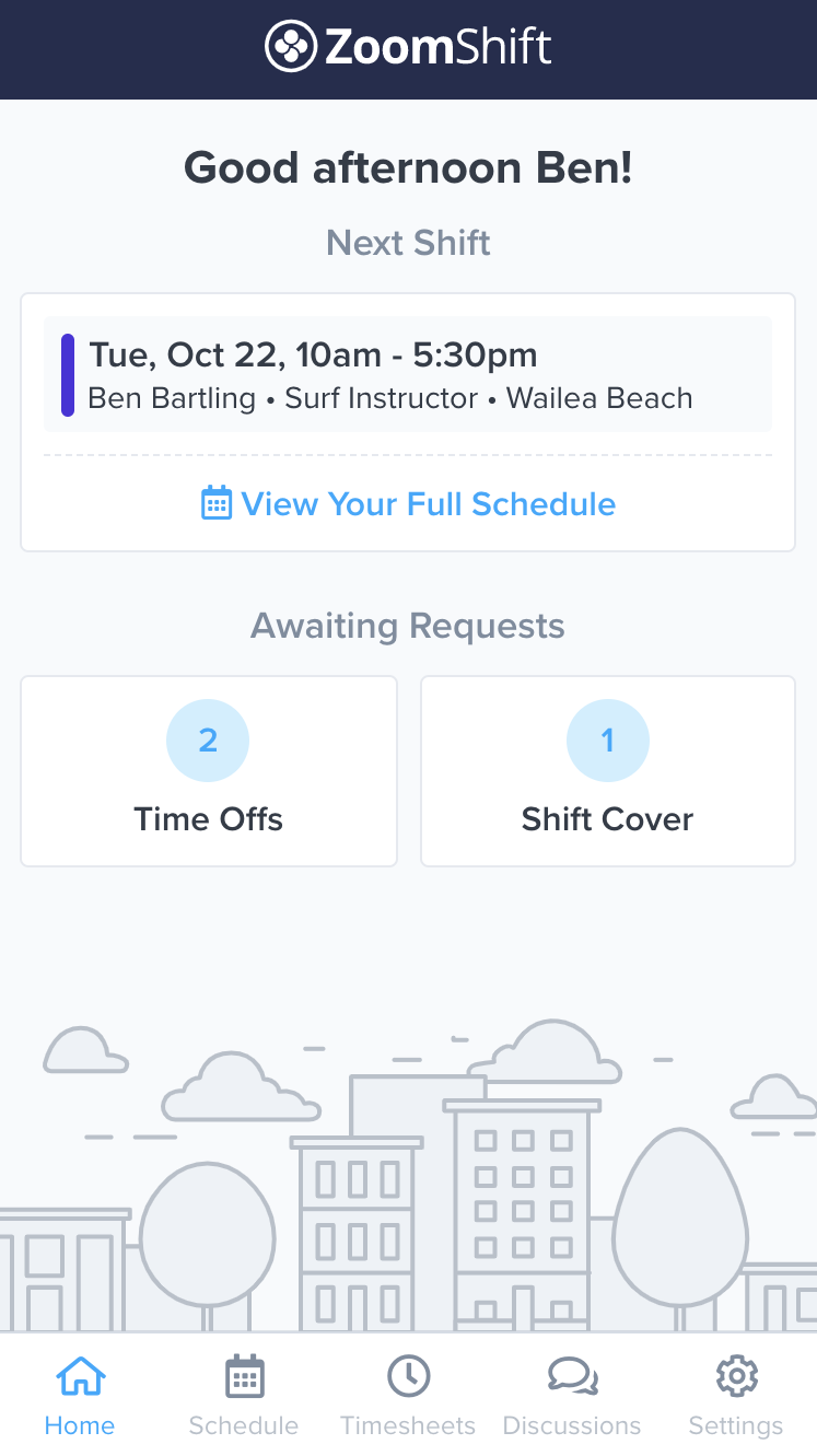 mobile work schedule