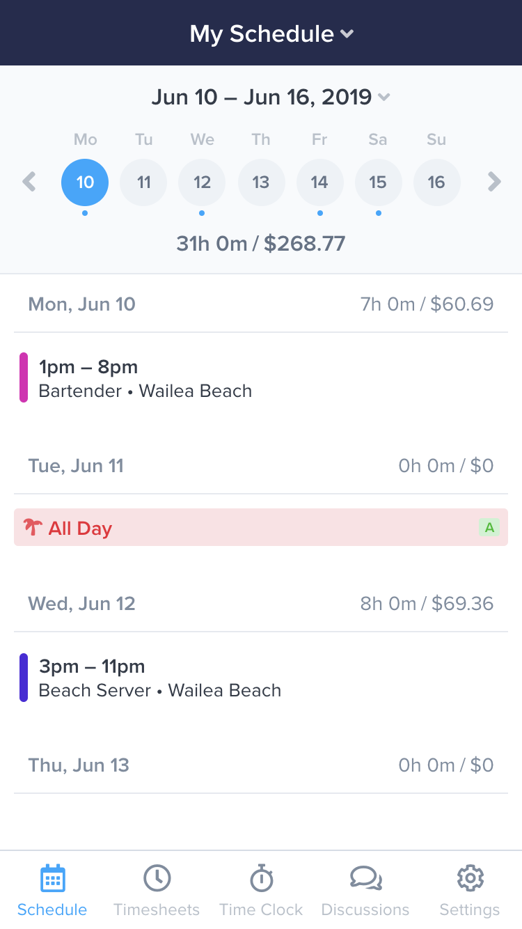 Work Schedule App and Time Clock - ZoomShift