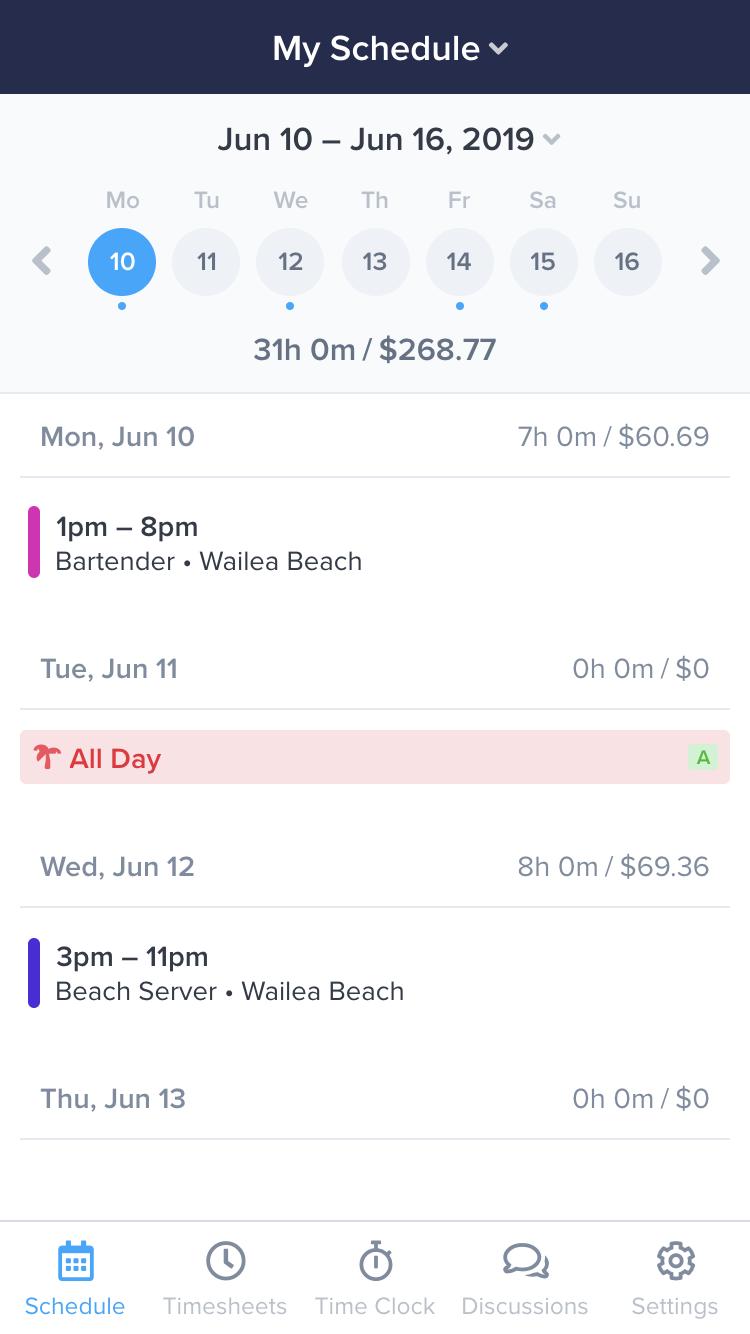 free work schedule app