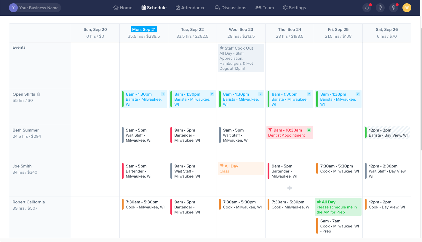 employee work schedule maker