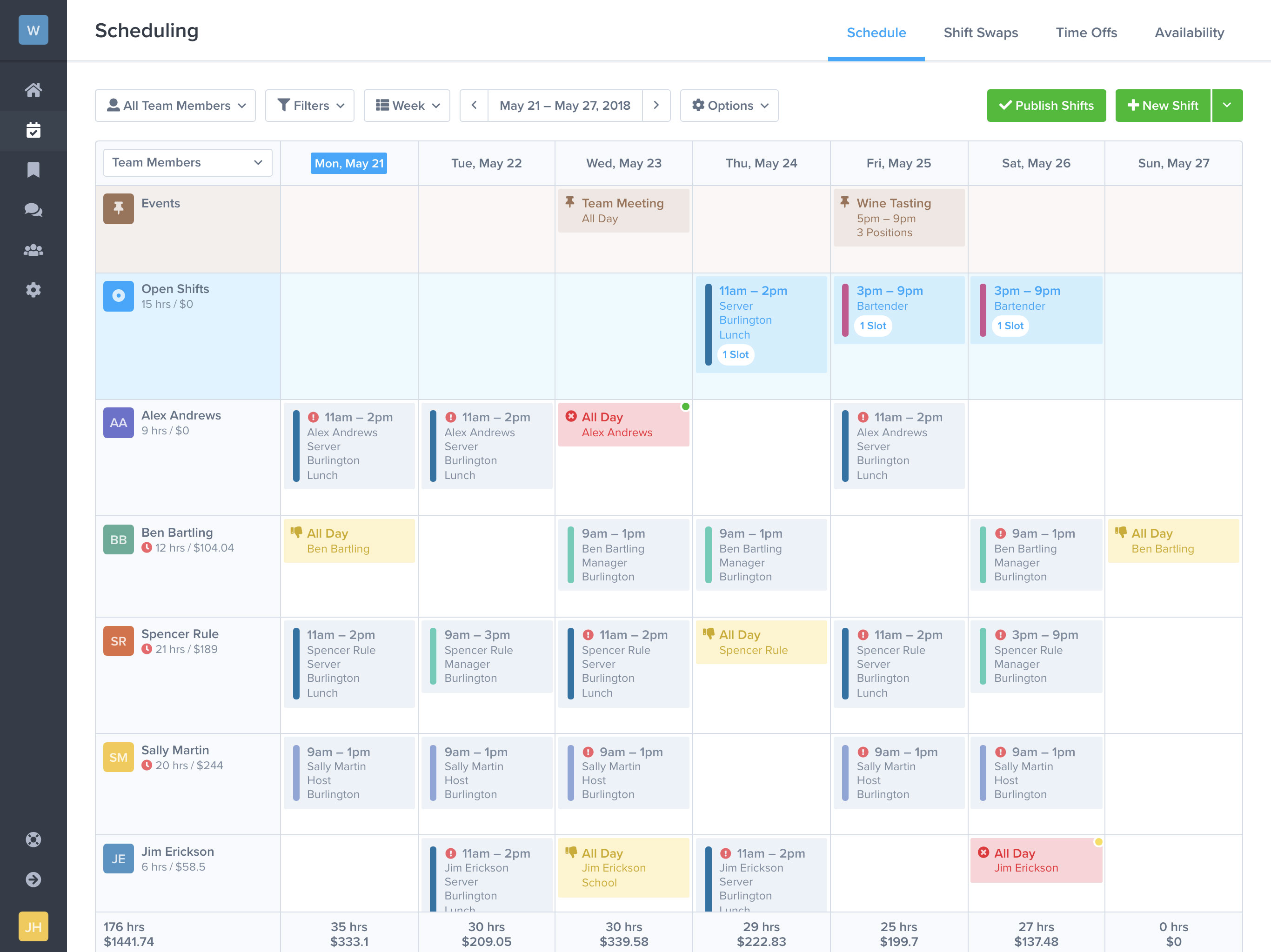 free work schedule maker zoomshift