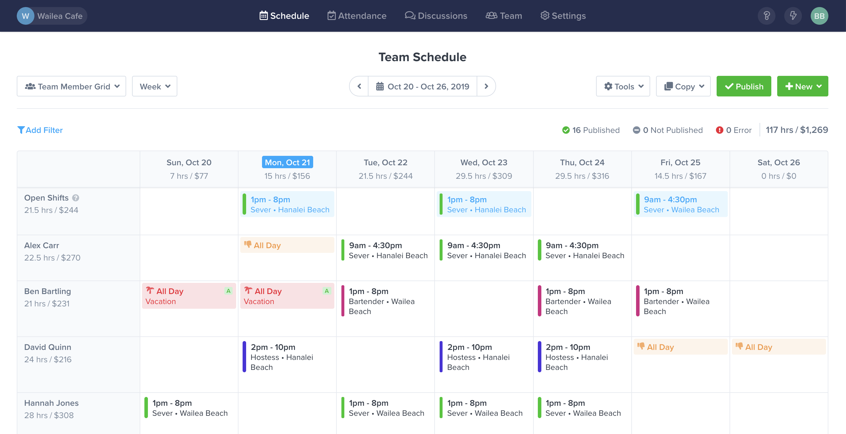 online employee scheduling software