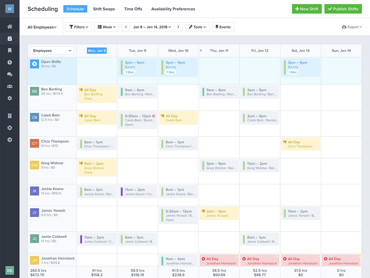 work schedule creator